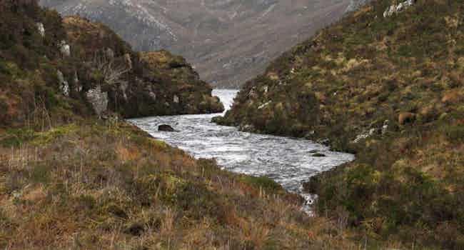 River Between Loch Gainimh & Loch Druim Suardalain