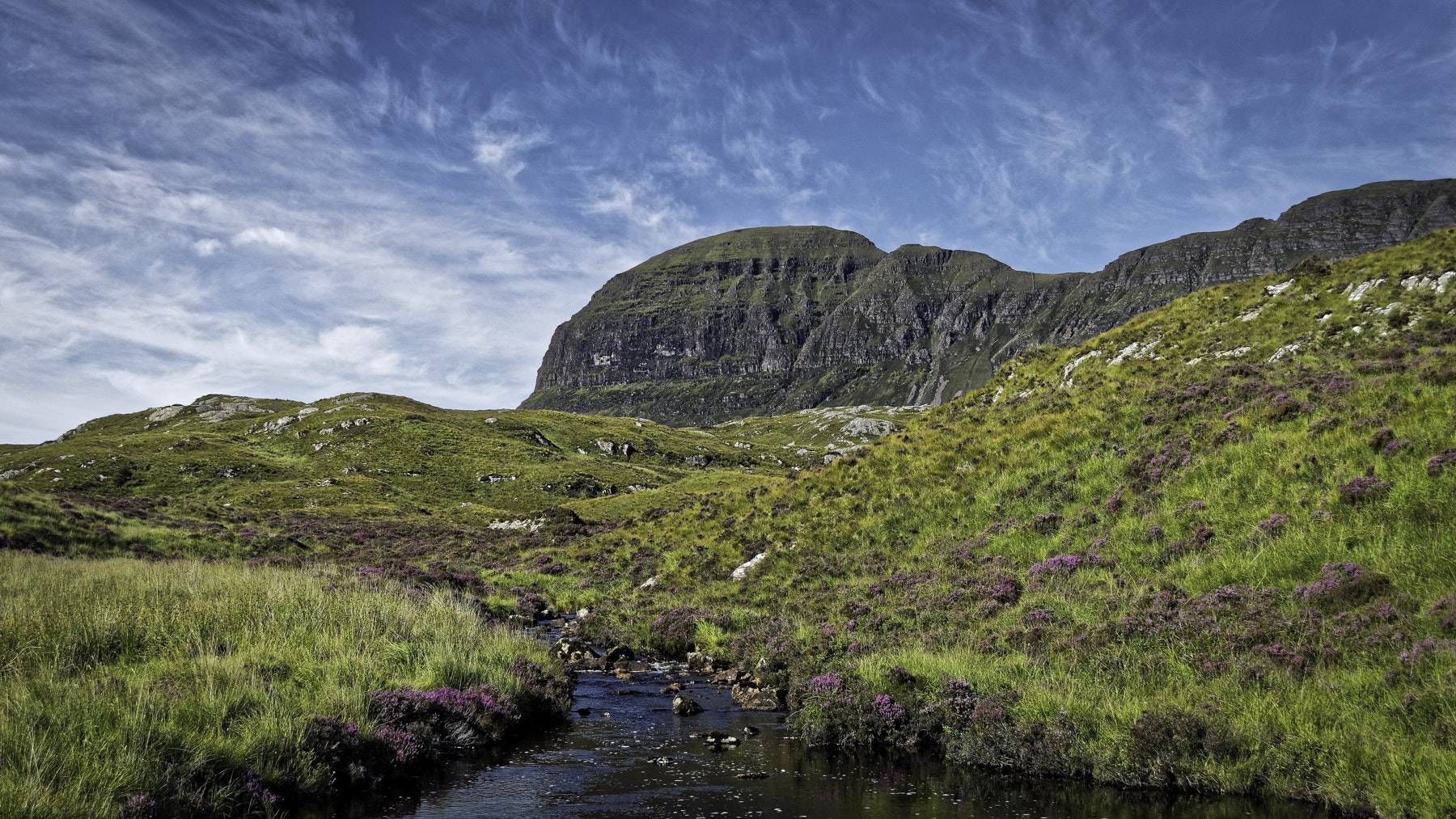Uidh Fhearna River between Loch Veyatie and Fionn Loch